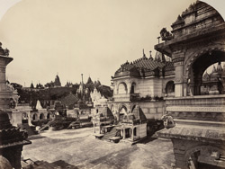 The Motisah Temple from the N.E. terrace [Satrunjaya]
